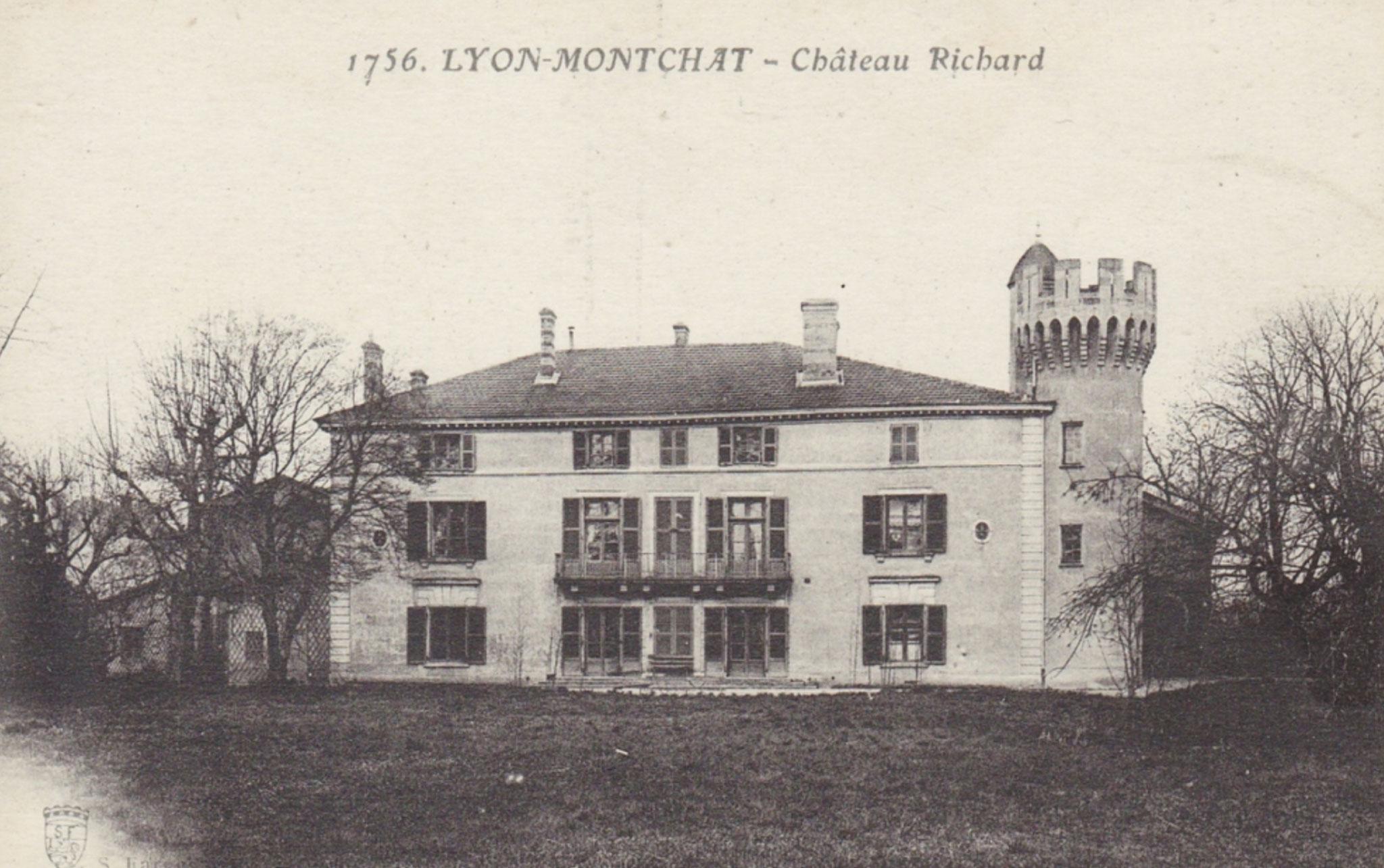 Photographie du Château de Montchat en 1756